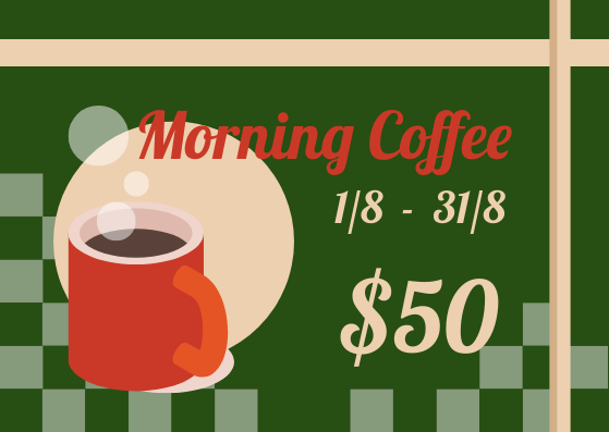Gift Card template: Coffee Store Gift Card (Created by InfoART's Gift Card marker)