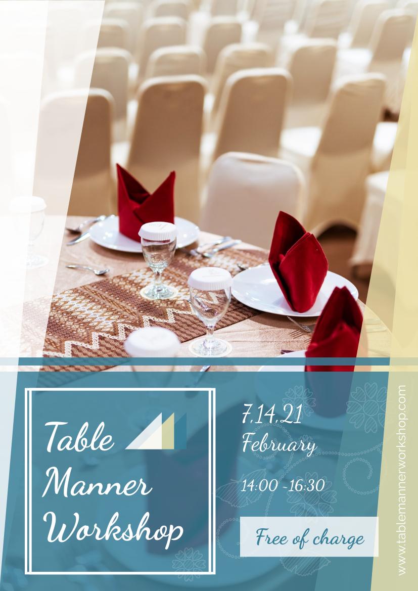 Flyer template: Table Manner Workshop Flyer (Created by InfoART's Flyer maker)