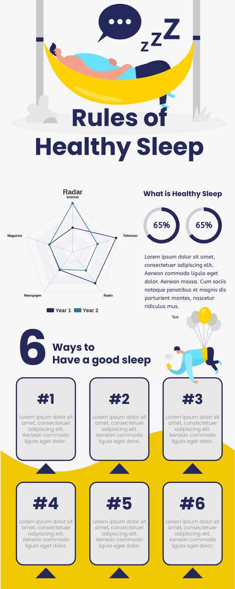 Infographic template: Rules Of Healthy Sleep Infographic (Created by InfoART's Infographic maker)