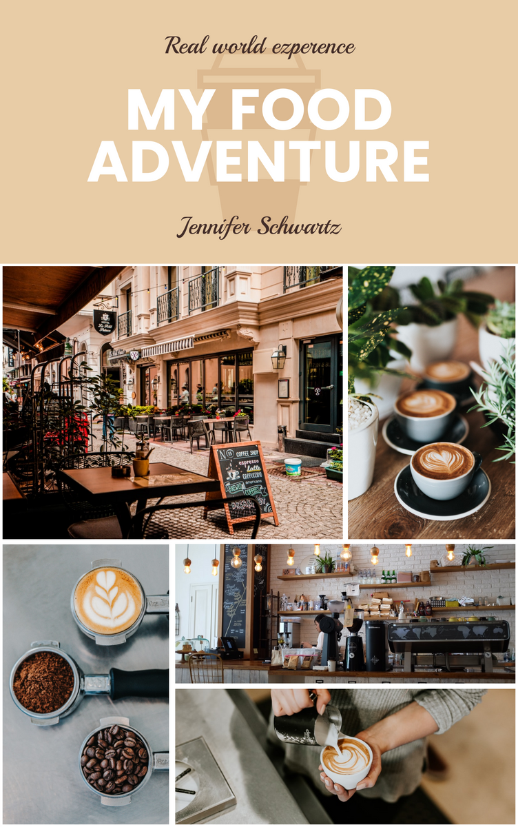 Book Cover template: My Food Adventure Book Cover (Created by InfoART's Book Cover maker)