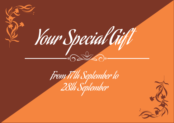 Gift Card template: Period Gift Card (Created by InfoART's Gift Card marker)