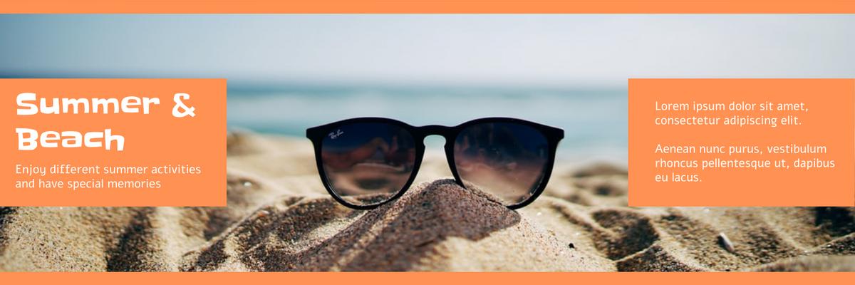 Twitter Header template: Orange Summer And Beach Twitter Header (Created by InfoART's Twitter Header maker)