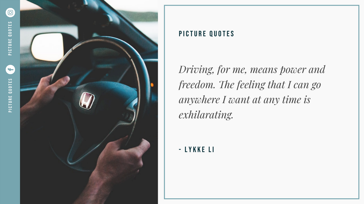 Twitter Post template: Car Photo Driving Quote Twitter Post (Created by InfoART's Twitter Post maker)