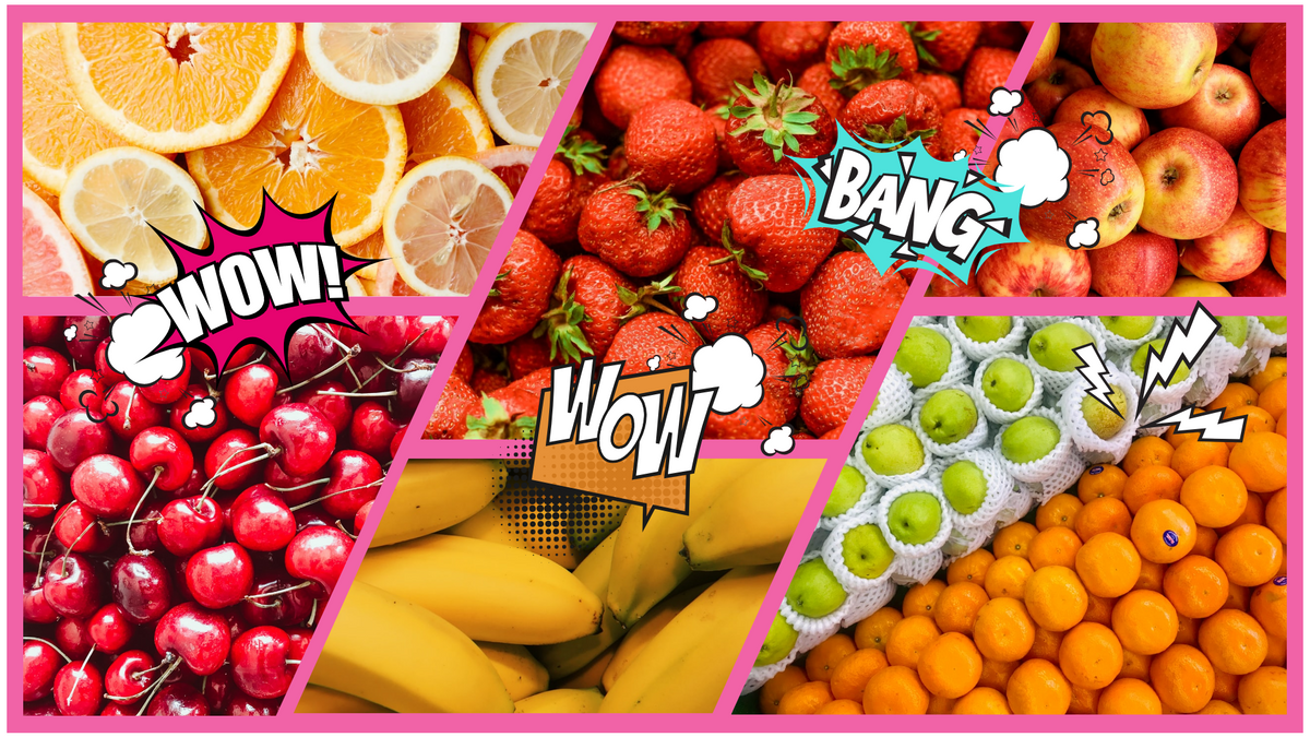 Comic Strip template: Fruits Comic Strip (Created by Collage's Comic Strip maker)
