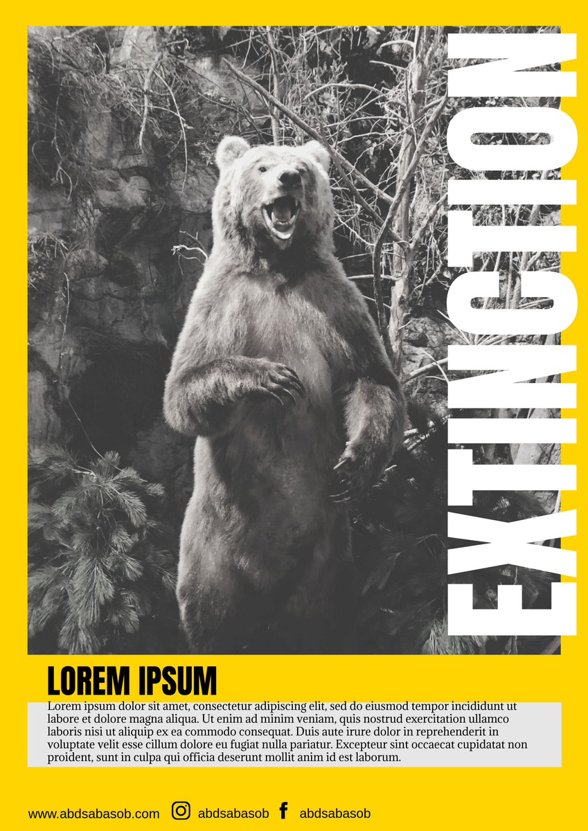 Poster template: Extinct Animal Poster (Created by InfoART's Poster maker)