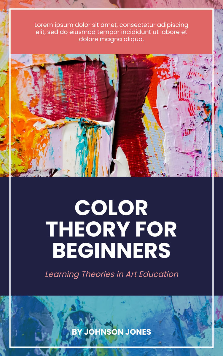 Book Cover template: Art Color Theory Book Cover (Created by InfoART's Book Cover maker)