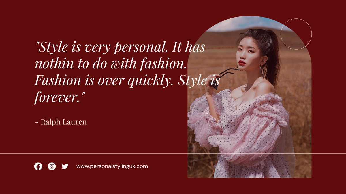 Twitter Post template: Fashion Style Quote Twitter Post (Created by InfoART's Twitter Post maker)