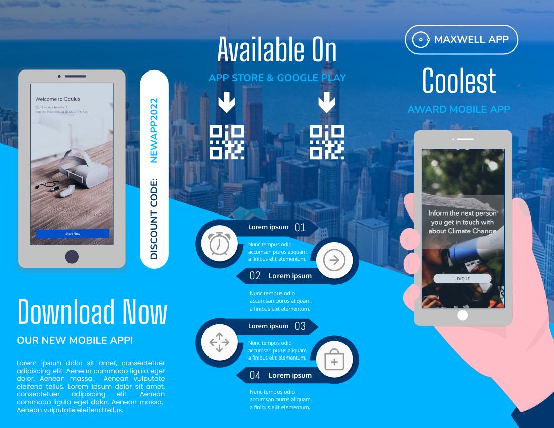 Brochure template: Introducing Mobile APP Brochure (Created by InfoART's Brochure maker)