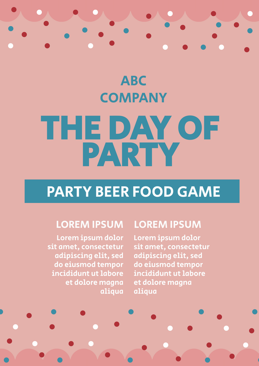 Poster template: Party Poster (Created by InfoART's Poster maker)