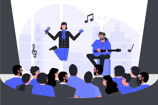 Festival Illustration template: Music Performance Illustration (Created by Scenarios's Festival Illustration maker)