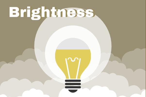 Progress template: Brightness Of Light Bulb (Created by InfoChart's Progress maker)