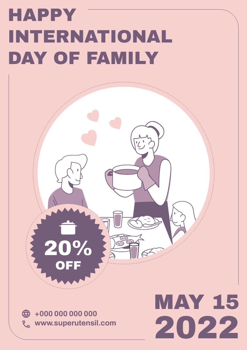 Flyer template: Utensil Family Day Discount Flyer (Created by InfoART's Flyer maker)