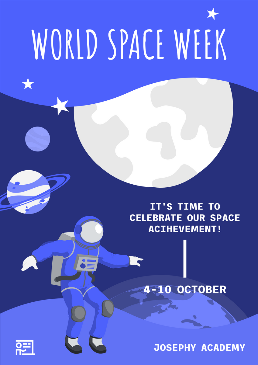 Poster template: World Space Week Poster (Created by InfoART's Poster maker)