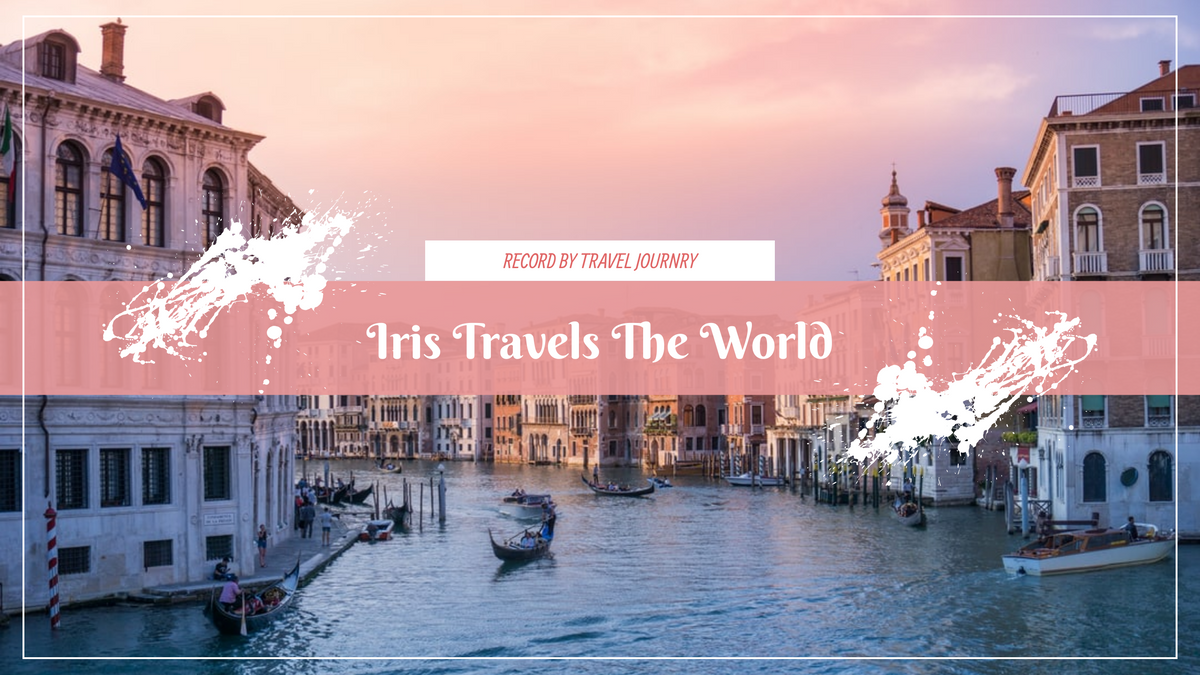 YouTube Channel Art template: Pink Travel Photo Trip Journey YouTube Channel Art (Created by InfoART's YouTube Channel Art maker)