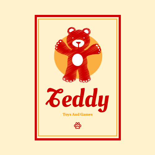 Logo template: Cute Teddy Bear Logo Created For Store Of Toys And Games (Created by InfoART's Logo maker)