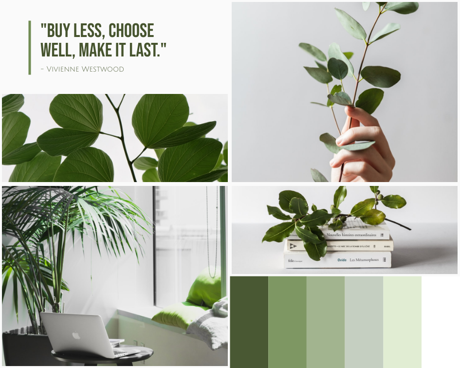 Mood Board template: Green Living Style Mood Board (Created by Collage's Mood Board maker)