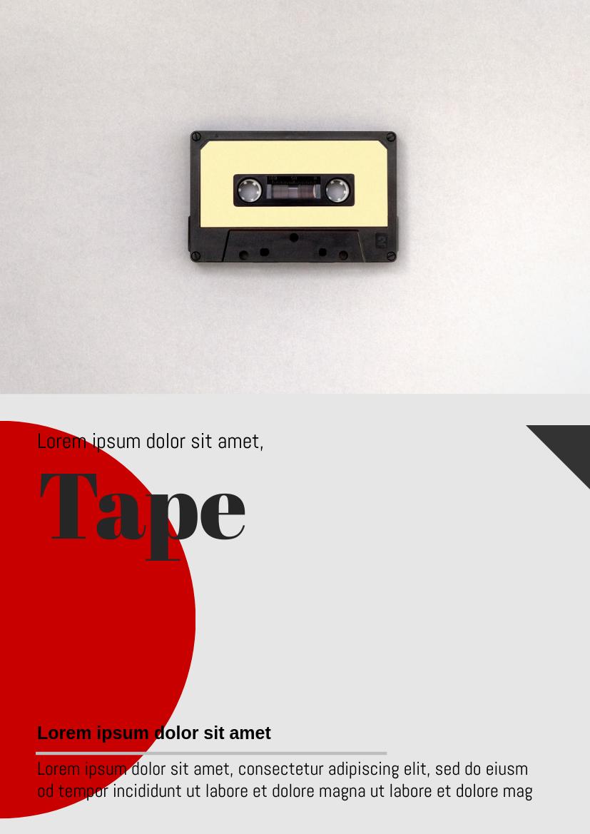 Flyer template: Cassette Flyer (Created by InfoART's Flyer maker)