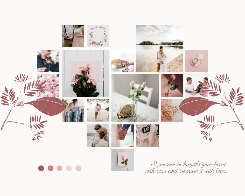 Mood Board template: Love Romance Mood Board (Created by Collage's Mood Board maker)