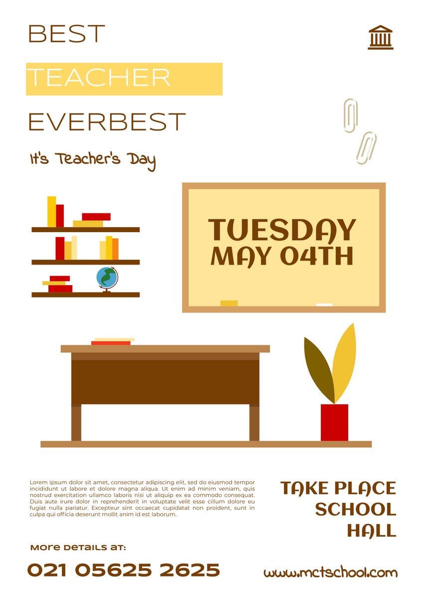 Poster template: Best Teacher Poster (Created by InfoART's Poster maker)