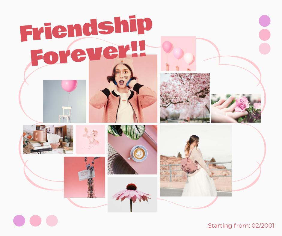 Facebook Post template: Friendship Forever  Facebook Post (Created by Collage's Facebook Post maker)