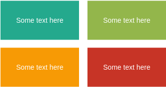 List Block Diagram template: Basic 2 x 2 Block List (Created by Diagrams's List Block Diagram maker)