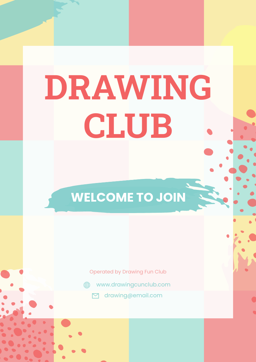 Flyer template: Drawing Club Flyer (Created by InfoART's Flyer maker)