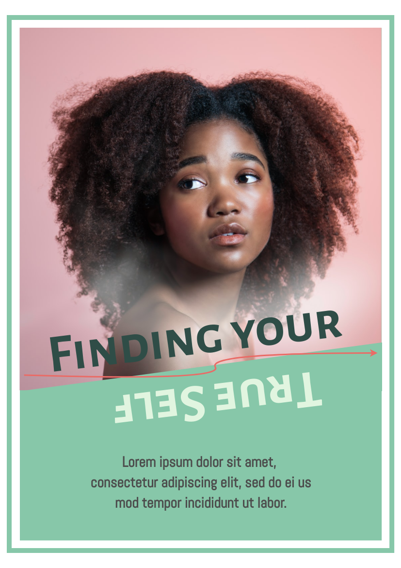Flyer template: Finding Your True Self Poster (Created by InfoART's Flyer maker)