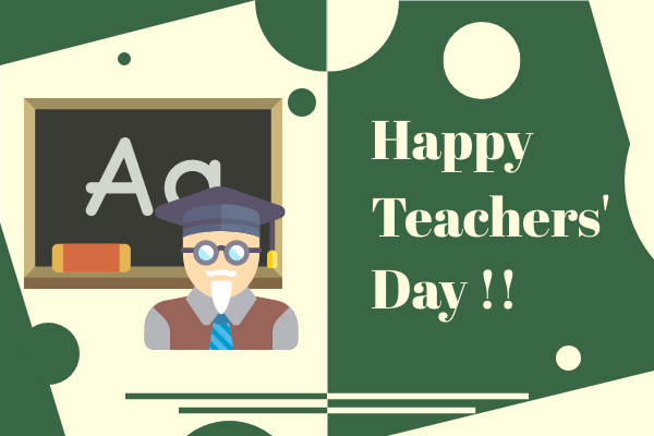 Greeting Card template: Happy Teachers' Day Greeting Card (Created by InfoART's Greeting Card maker)