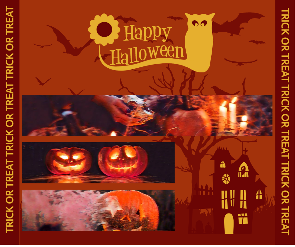 Facebook Post template: Halloween Holiday Facebook Post (Created by Collage's Facebook Post maker)
