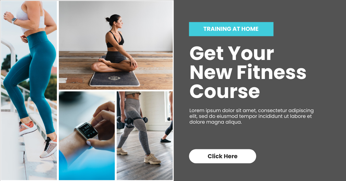 Facebook Ad template: Online Fitness Course Facebook Ad (Created by InfoART's Facebook Ad maker)