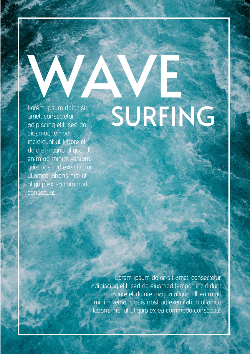 Poster template: Wave Poster 2 (Created by InfoART's Poster marker)