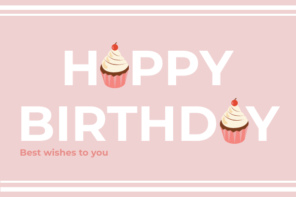 Greeting Card template: Birthday Cupcake Card (Created by InfoART's Greeting Card maker)