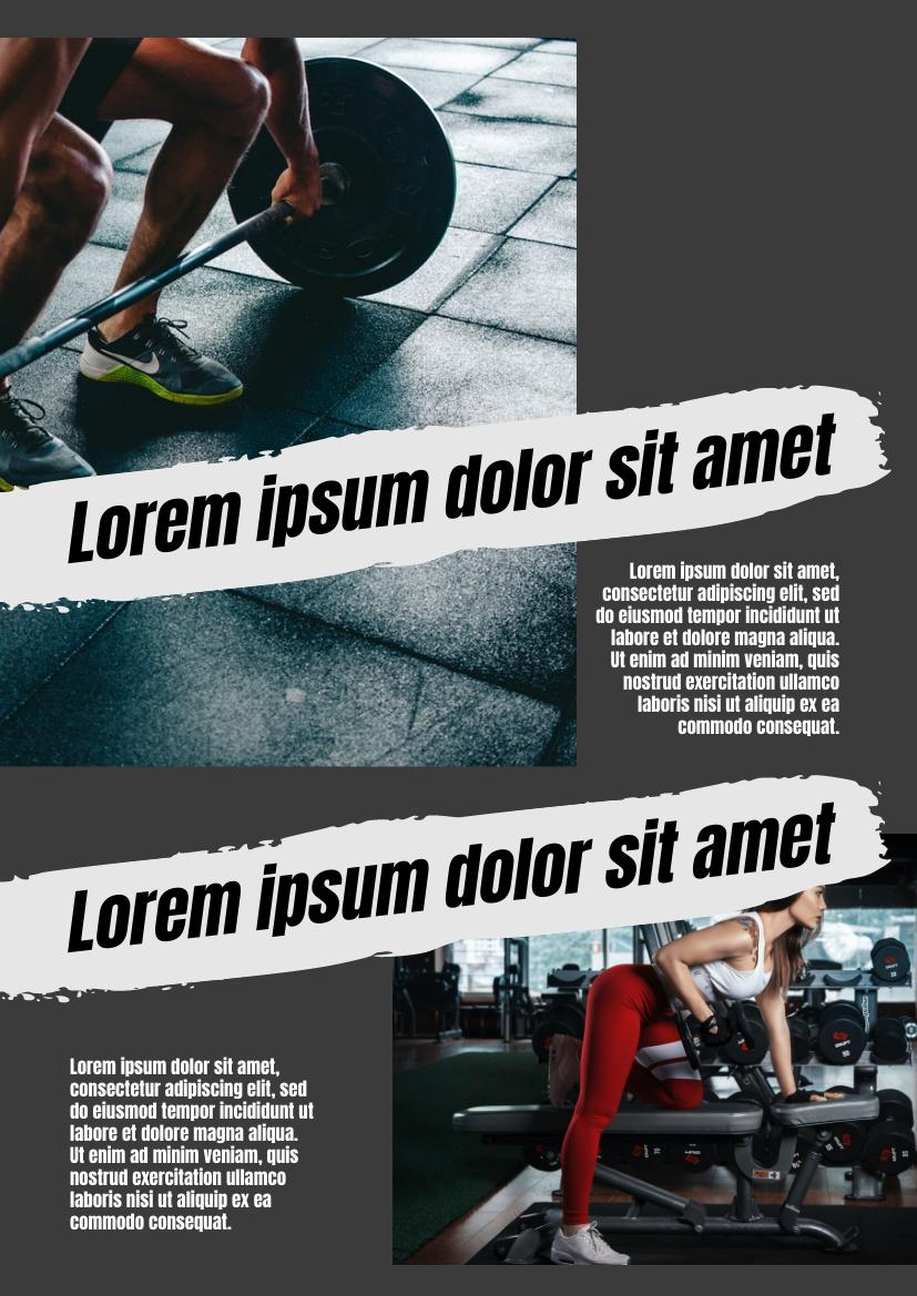 Flyer template: Gym Flyer (Created by InfoART's Flyer maker)