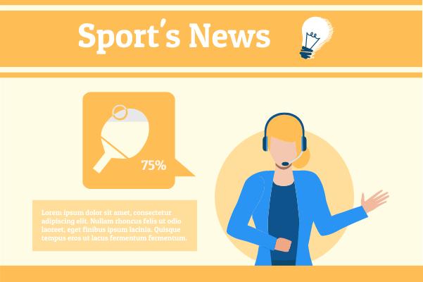 Sport template: Table Tennis News (Created by InfoChart's Sport maker)