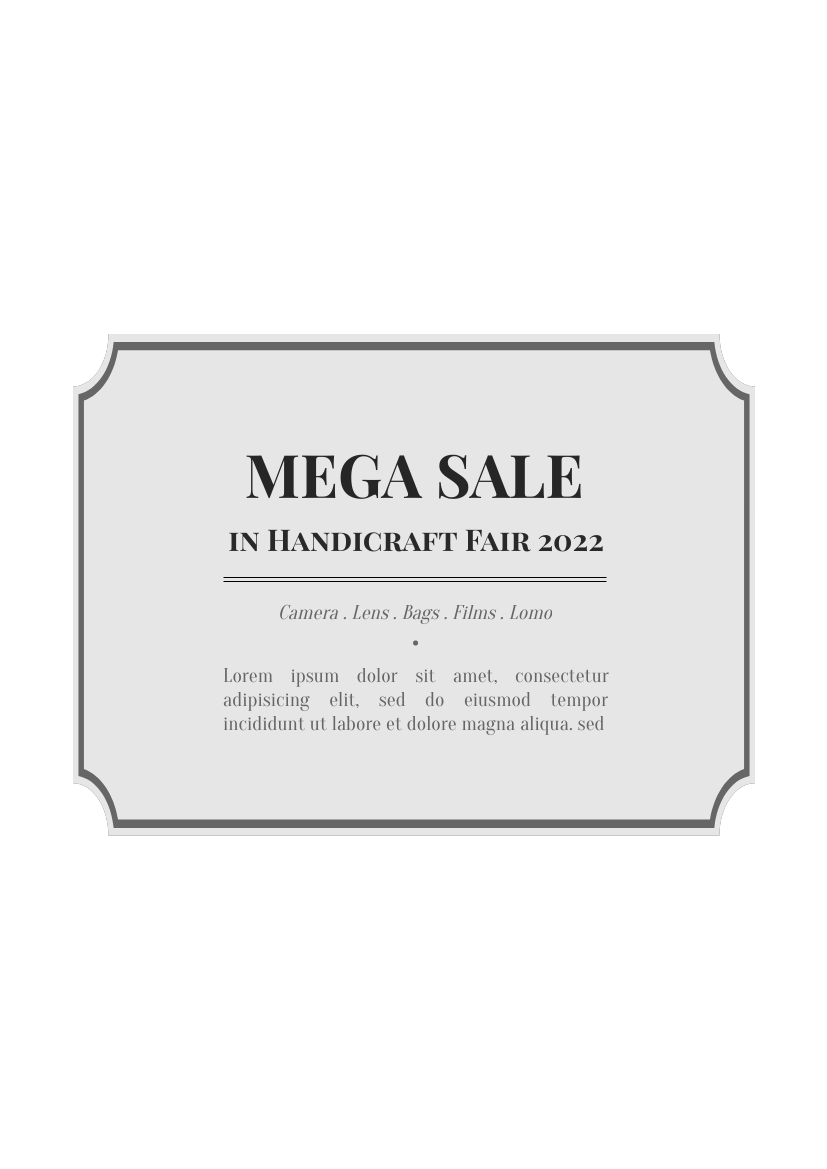 Flyer template: Camera Mega Sales (Created by InfoART's Flyer maker)