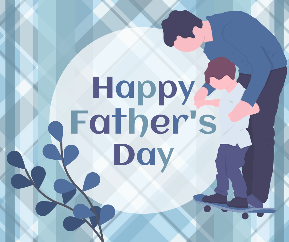 Facebook Post template: Blue Happy Father's Day Facebook Post (Created by InfoART's Facebook Post maker)