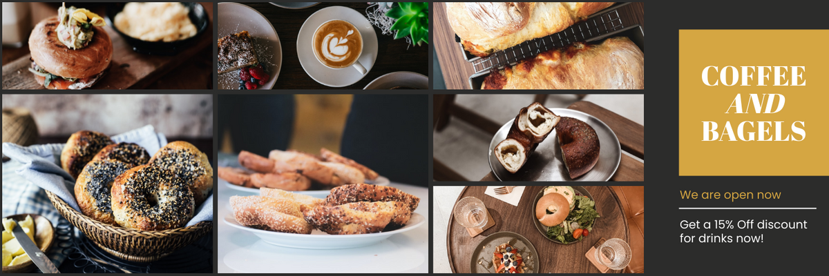 Twitter Header template: Coffee And Bagels Twitter Header (Created by InfoART's Twitter Header maker)