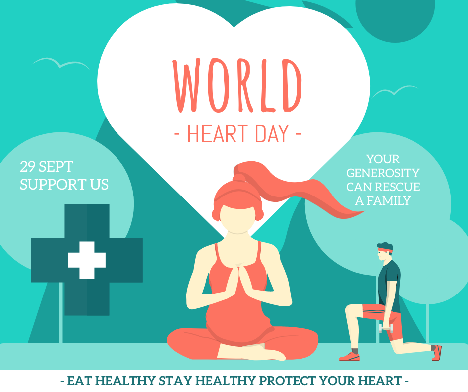 Facebook Post template: Clinical World Heart Day Quote Facebook Post (Created by InfoART's Facebook Post maker)