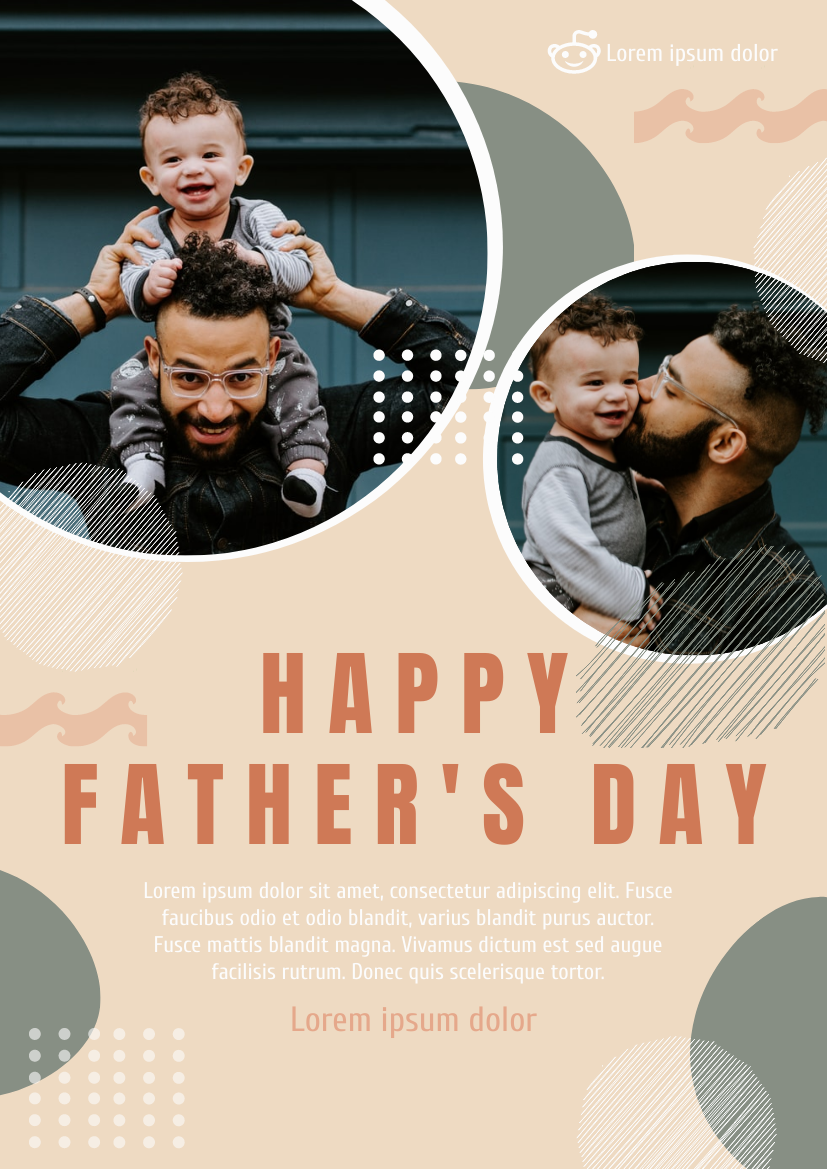 Flyer template: Photography Happy Father's Day Flyer (Created by InfoART's Flyer maker)