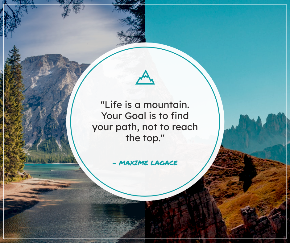 Facebook Post template: Mountain Photo Grid Inspirational Quote Facebook Post (Created by InfoART's Facebook Post maker)