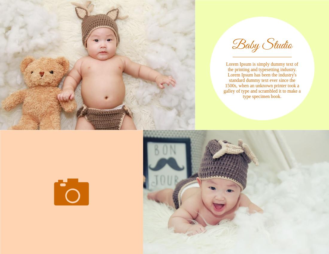 Brochure template: Baby Studio (Created by InfoART's Brochure marker)