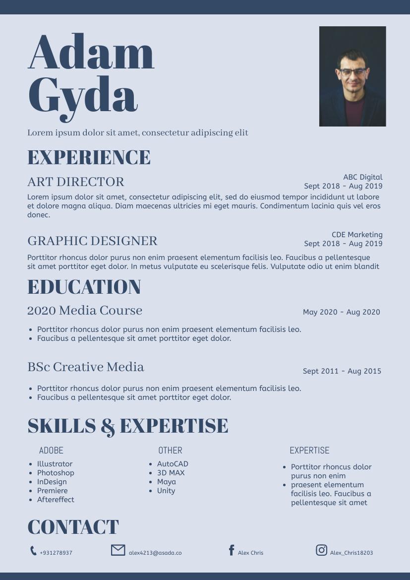 Resume template: Simple03 Resume (Created by InfoART's Resume maker)