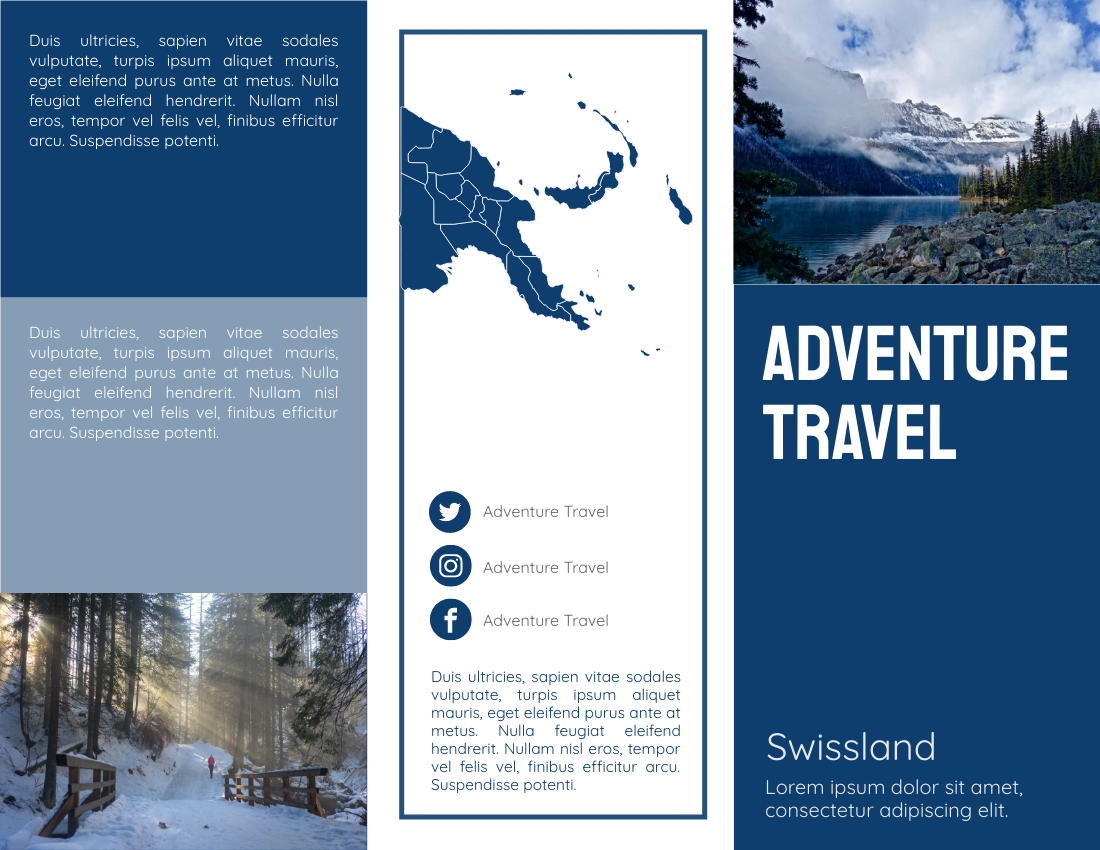 Adventure Travel brochure