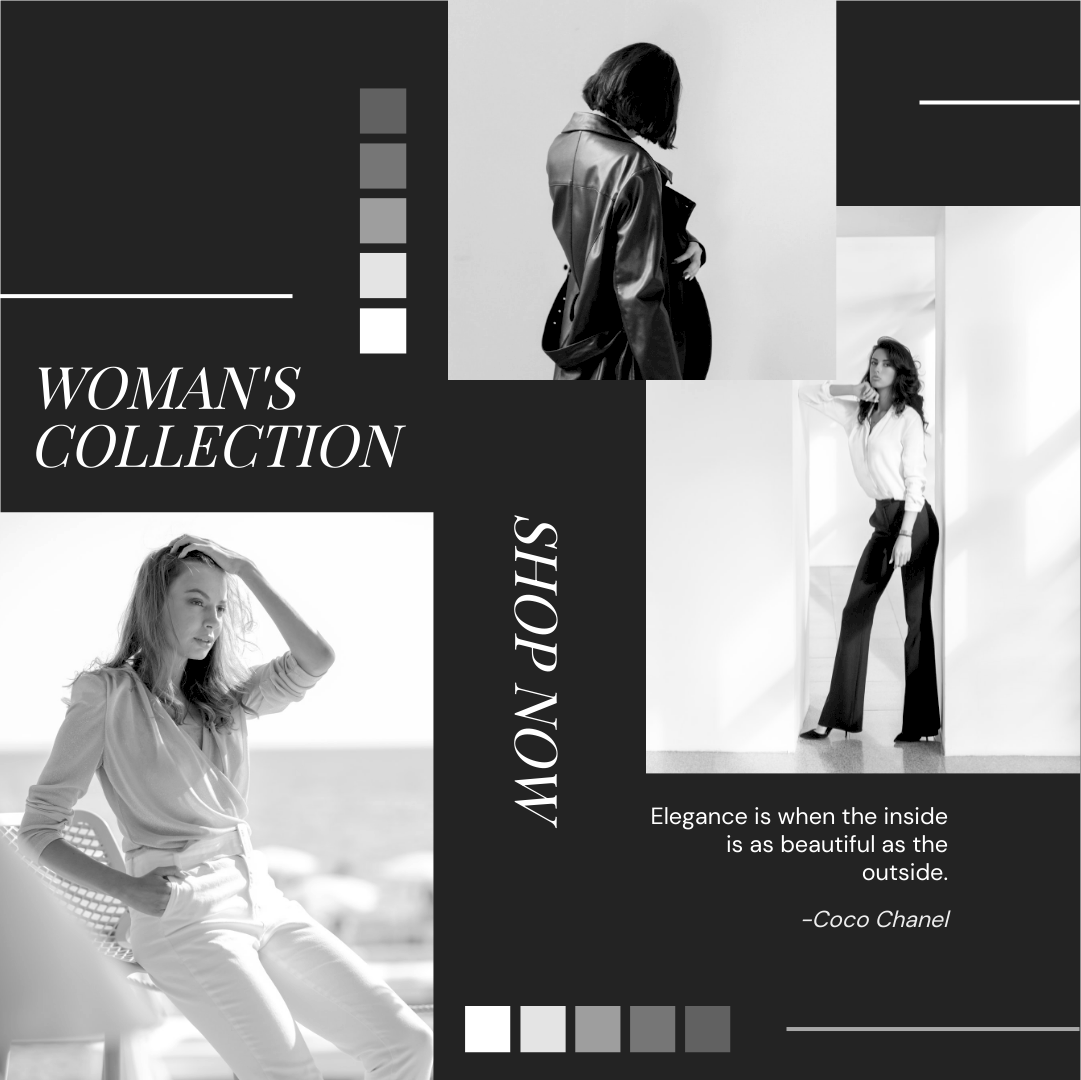 Instagram Post template: Woman's Fashion Collection Instagram Post (Created by Collage's Instagram Post maker)