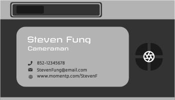 Business Card template: Cameraman Business Cards (Created by InfoART's Business Card maker)