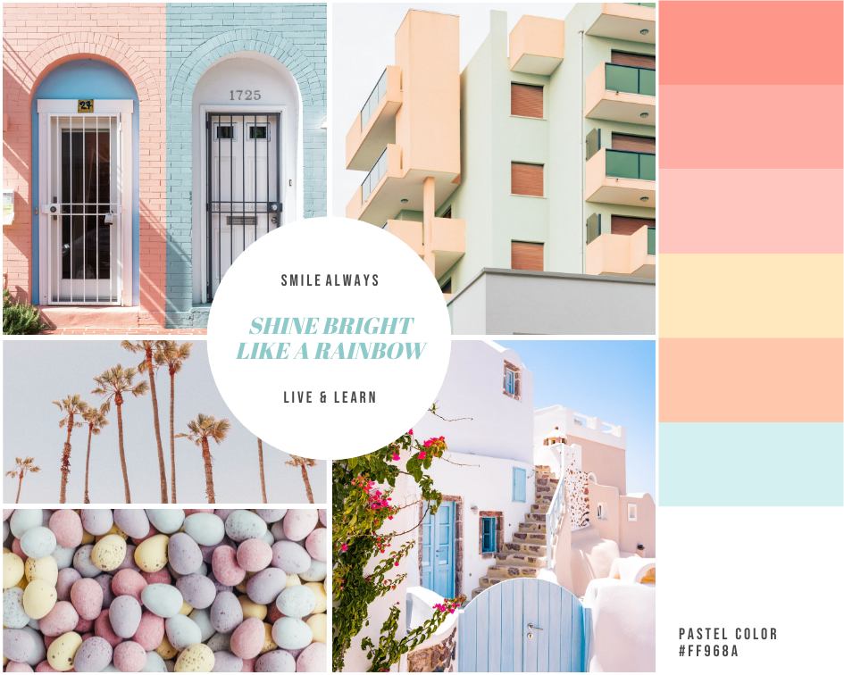 Mood Board template: Pastel Architecture Mood Board (Created by Collage's Mood Board maker)