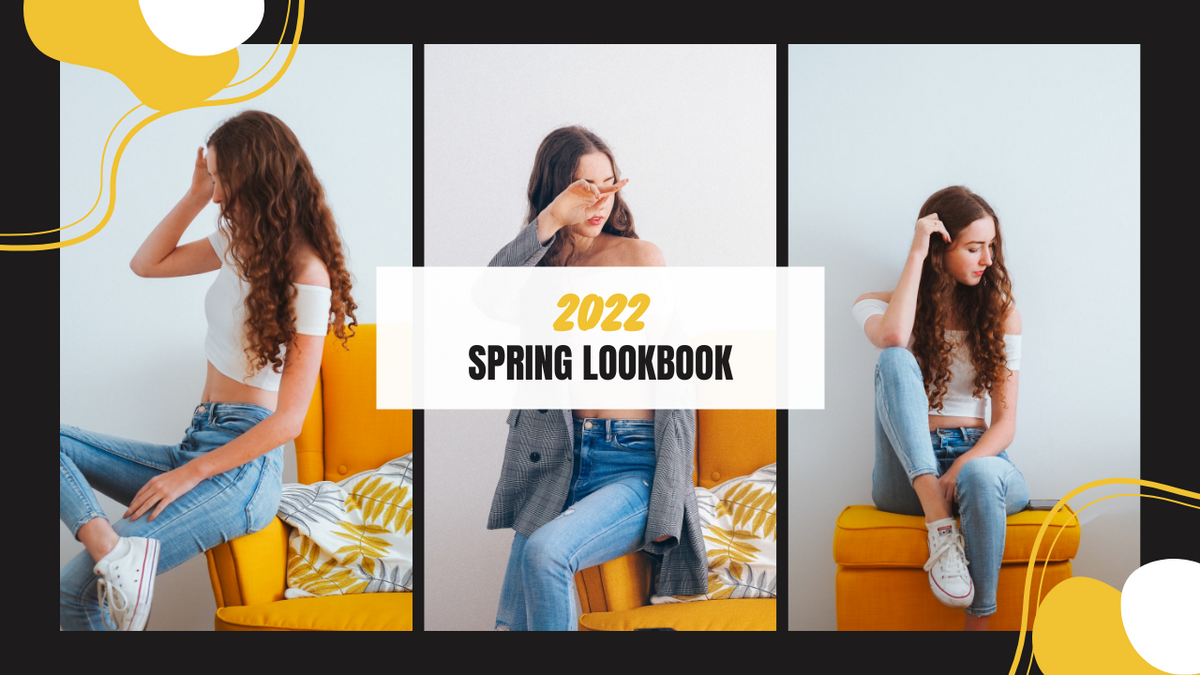 YouTube Thumbnail template: Yellow And White Fashion Girl Photo Lookbook YouTube Thumbnail (Created by InfoART's YouTube Thumbnail maker)