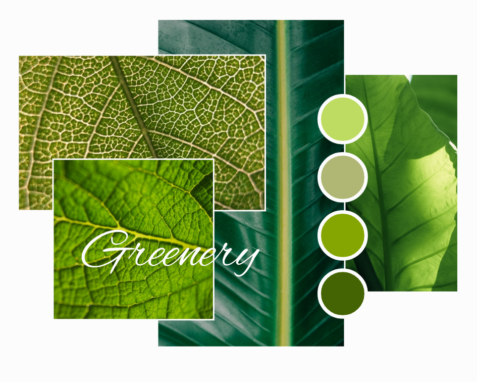 Mood Board template: Greenery Inspiration Mood Board (Created by Collage's Mood Board maker)