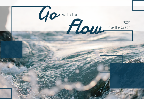 Post Card template: Go With The Flow Post Card (Created by InfoART's Post Card marker)