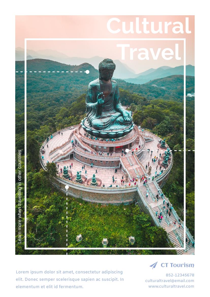 Flyer template: Cultural Travel Flyer (Created by InfoART's Flyer maker)